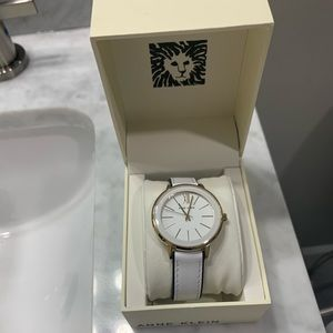 AnnKlein New with tags white leather women's watch